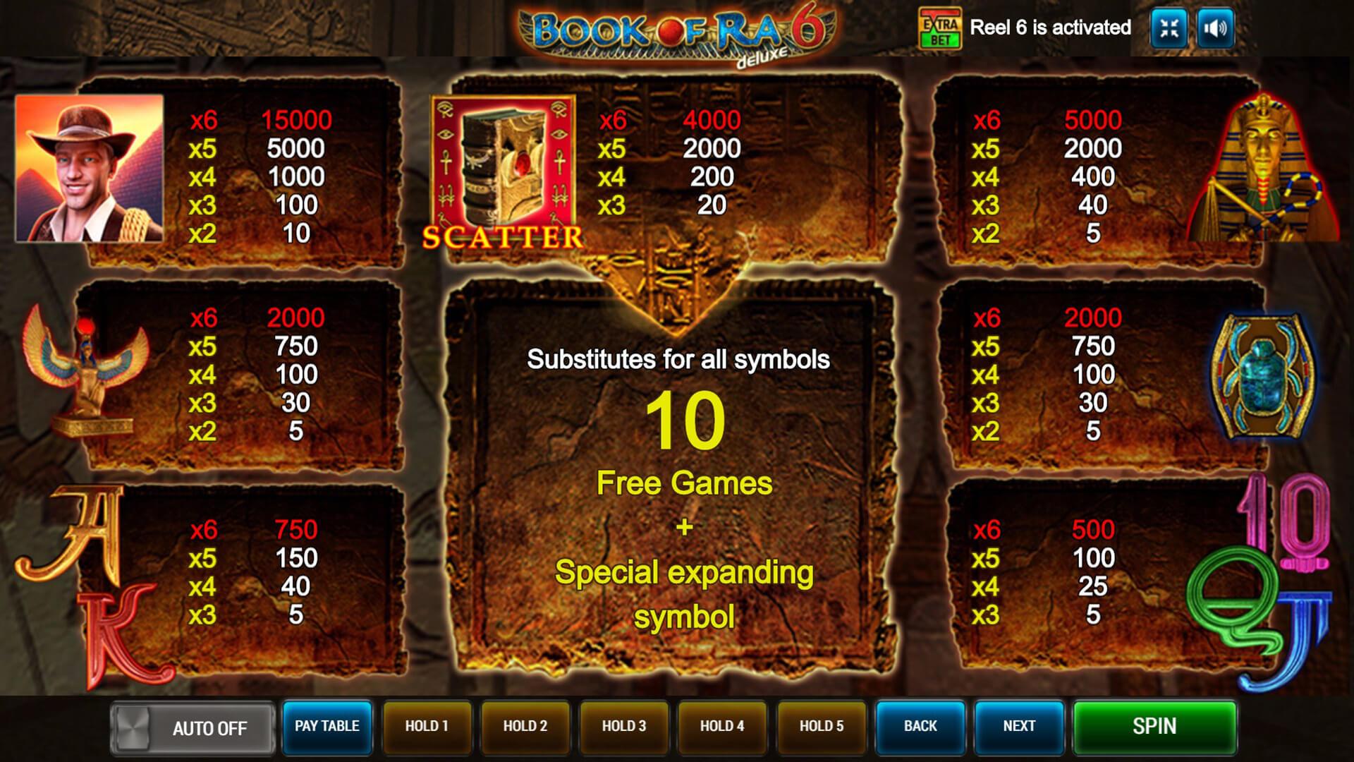 Изображение игрового автомата Book of Ra Deluxe 6 3
