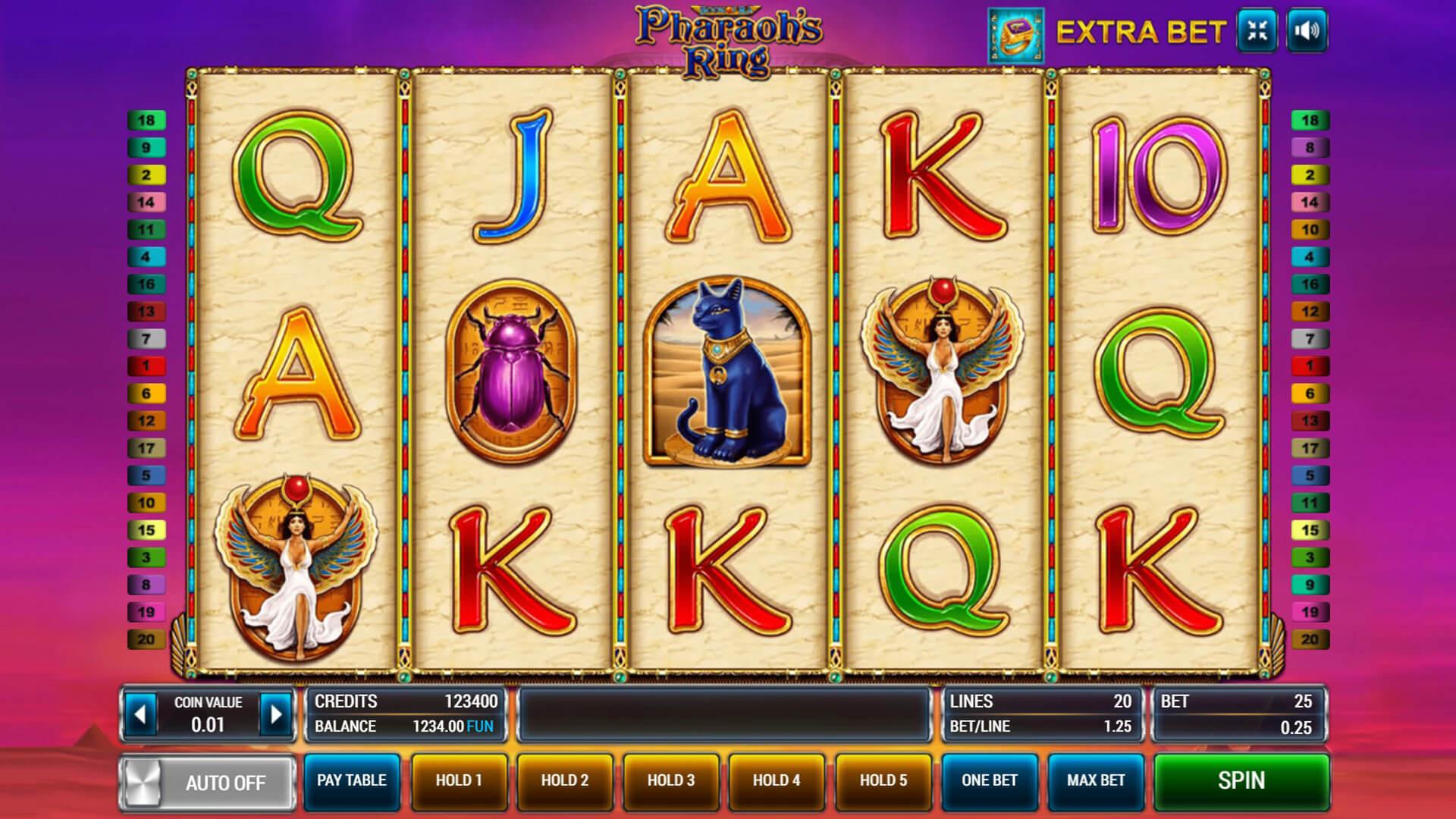 Изображение игрового автомата Pharaoh's Ring 1