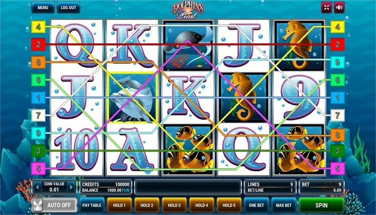 Изображение игрового автомата Dolphin's Pearl 1