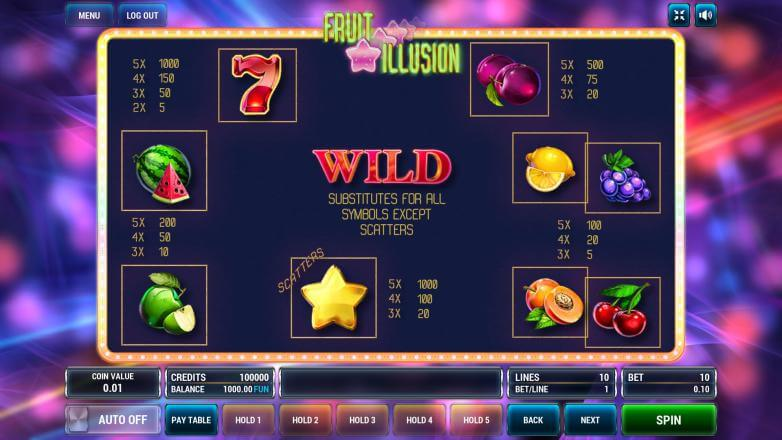 Изображение игрового автомата Fruit Illusion 3