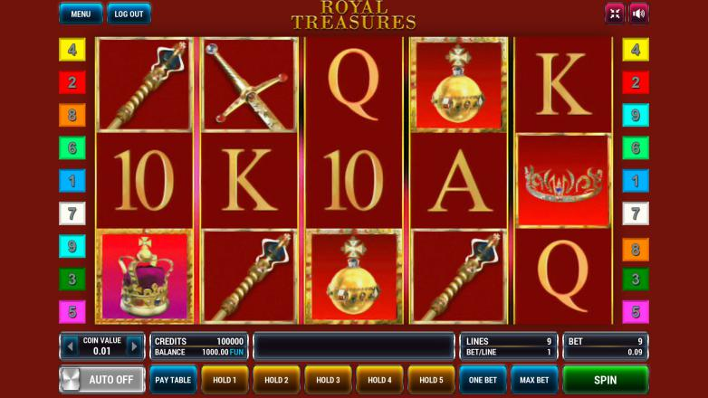Изображение игрового автомата Royal Treasures 2