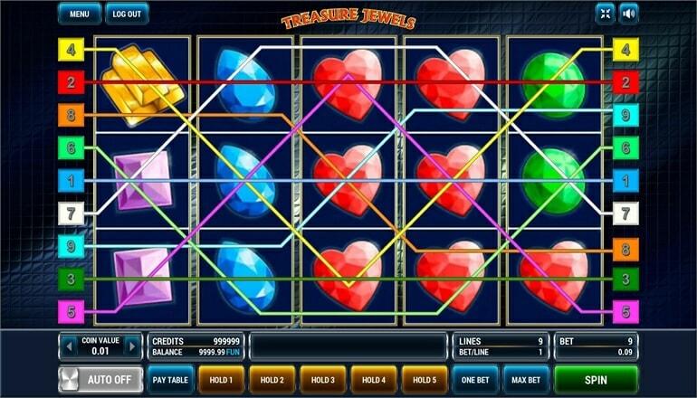 Изображение игрового автомата Treasure Jewels 1