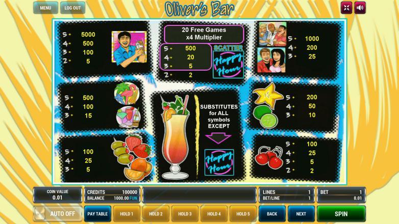 Изображение игрового автомата Oliver's Bar 3