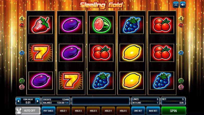 Изображение игрового автомата Sizzling Gold 1